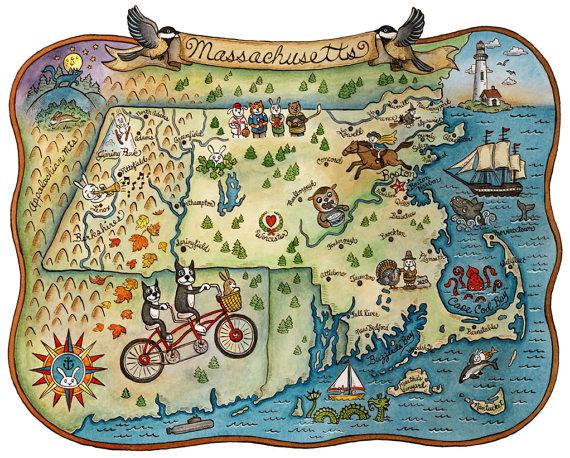 MA etsy map